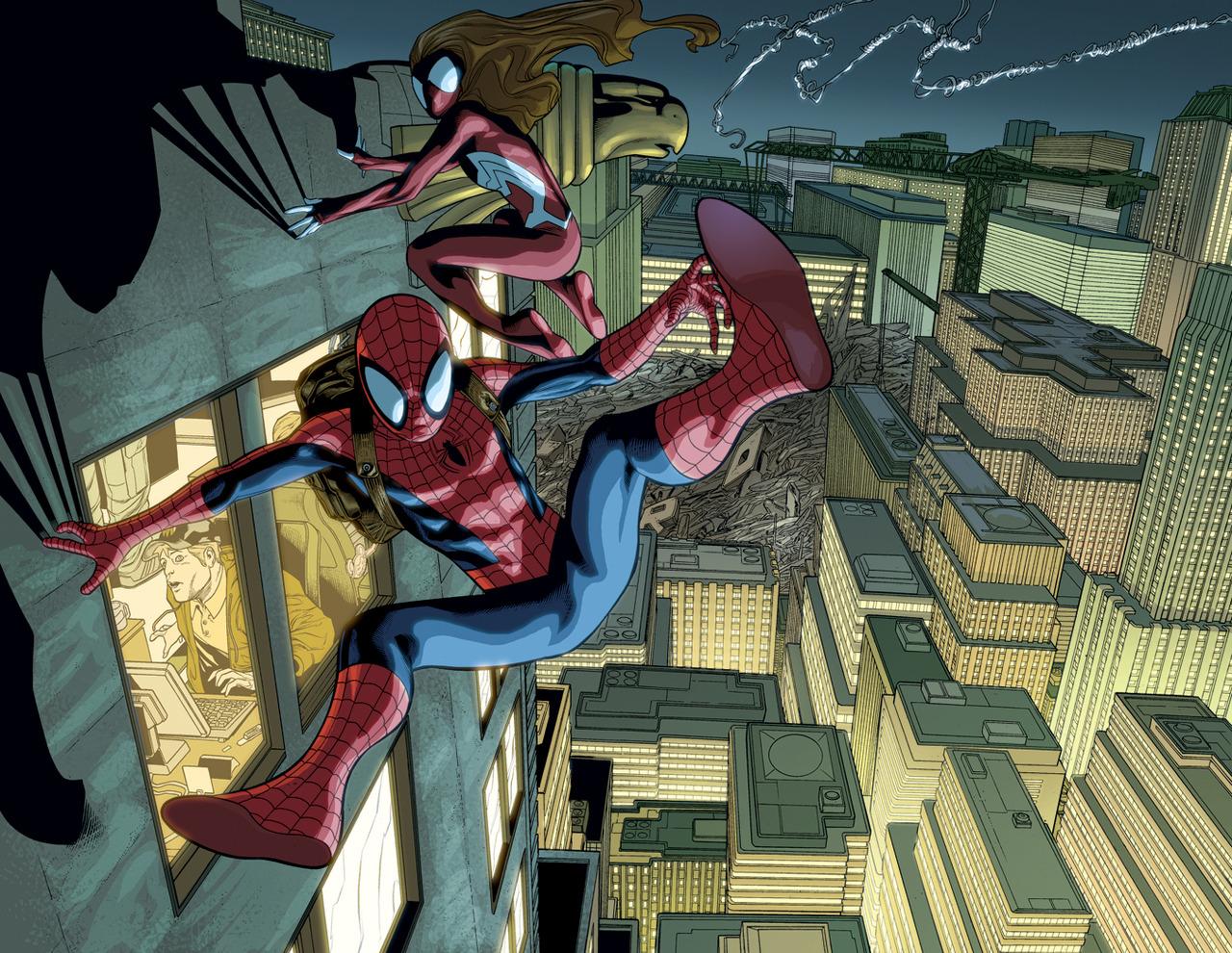 spider women spider-woman  spider-manUltimate Spiderman And Spiderwoman