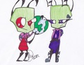 ugh i hate giving titles - invader-zim fan art