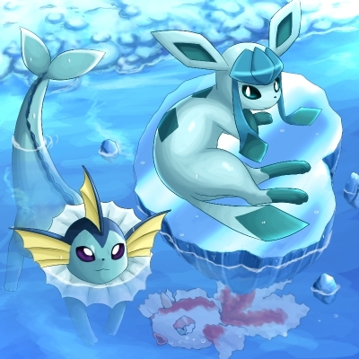vapereon and glaceon