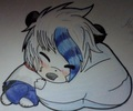 (AT w/ MephilesTheDark) Mars hugging marshmallow~! - mars-mashumaro-the-panda fan art