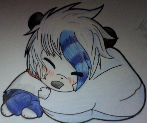 (AT w/ MephilesTheDark) Mars hugging marshmallow~!
