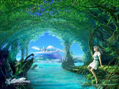 Imagination hình nền possibly containing a bather, thói quen and a resort titled ><><Drifting Spirit><><