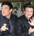 ♥Monfer♥ with Lea.  - cory-monteith-and-chris-colfer photo