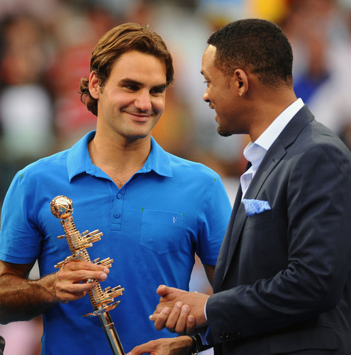 Roger Federer and Will Smith in Madrid 2012