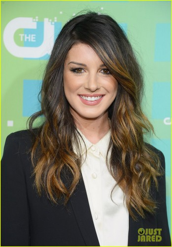 90210 wallpaper possibly containing a well dressed person and a portrait called  Shenae Grimes, and Jessica Stroup attend The CW's Upfront presentation