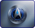 «Эмблема Звёздного Флота ОФП»  [ «Starfleet emblem of the UFP» ] - star-trek wallpaper