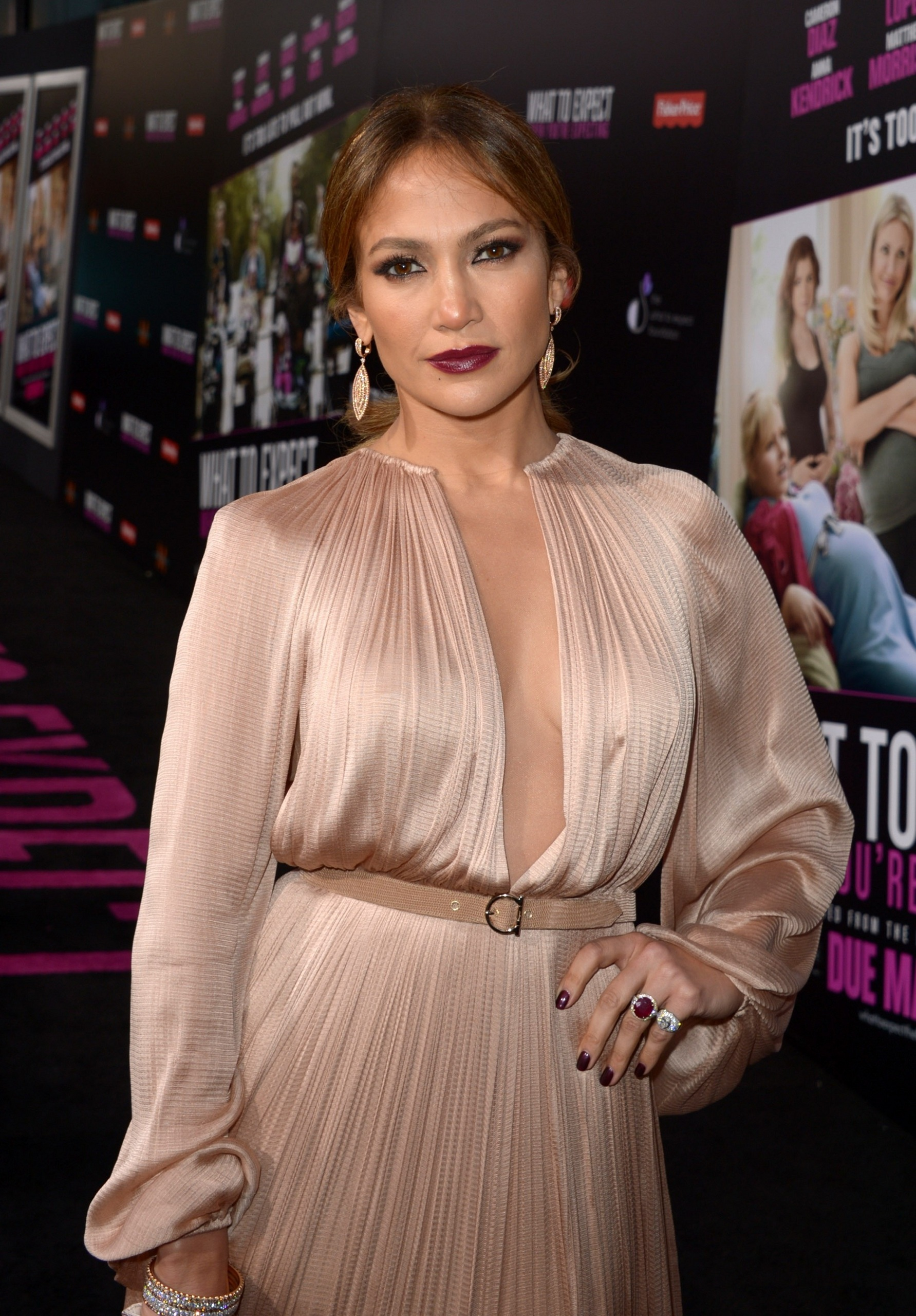 Jennifer Lopez Sheer Dress At What To Expect Premiere Is