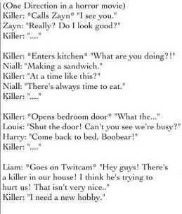 1D in Horror Movie! <3 - one-direction Photo