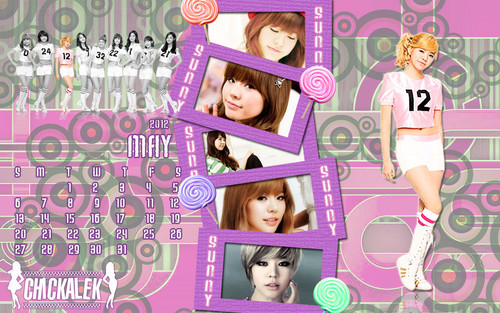 Girls Generation/SNSD wallpaper entitled 2012 Calendar May SNSD Sunny