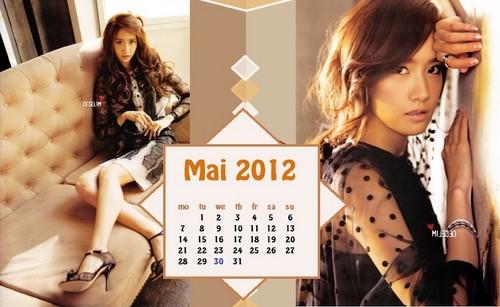 2012 Calendar May SNSD Yoona