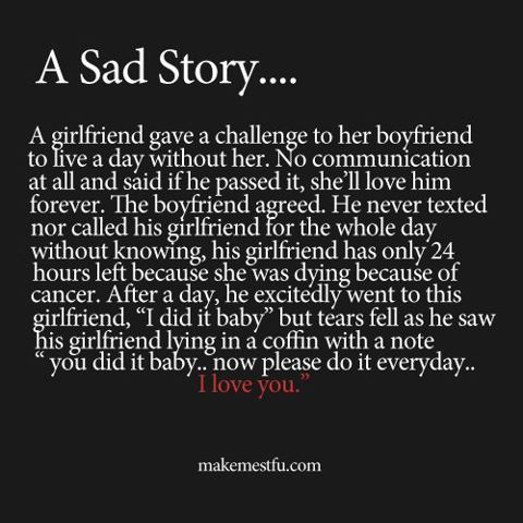 A sad story...