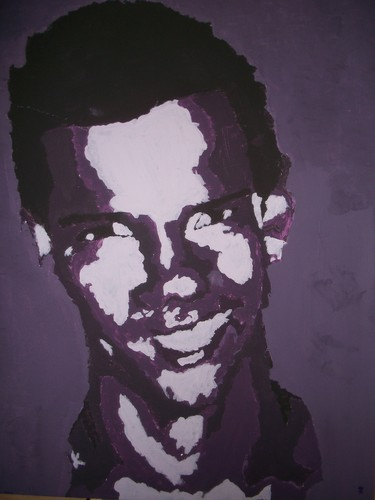 Acrylic Monocramatic Painting - taylor-lautner Fan Art