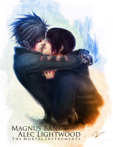Alec and Magnus - mortal-instruments Fan Art
