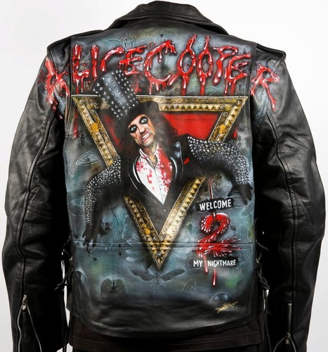 Alice Cooper leather giacca