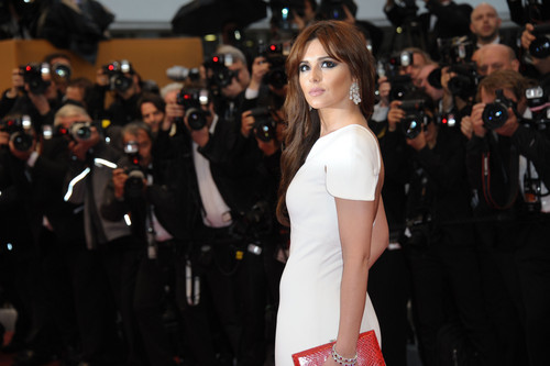 Cheryl Cole wallpaper probably with a cocktail dress and a dinner dress entitled Amour Premiere At Cannes Film Festival [20 May 2012]