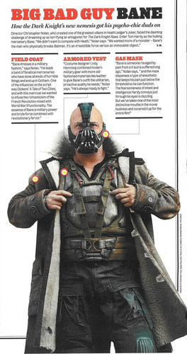 Tom Hardy wallpaper possibly with anime entitled Bane - Rolling Stone - Magazine