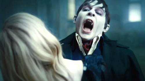 Tim Burton's Dark Shadows wallpaper entitled Barnabas- Take a bite out of this
