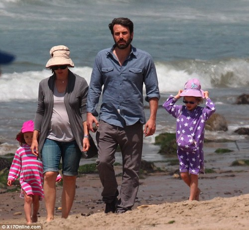 Ben, Jen and their 3 kids at the pantai