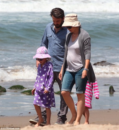 Ben, Jen and their 3 kids at the de praia, praia