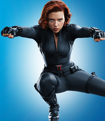 The Avengers kertas dinding possibly containing a hip boot, a leotard, and tights entitled Black Widow