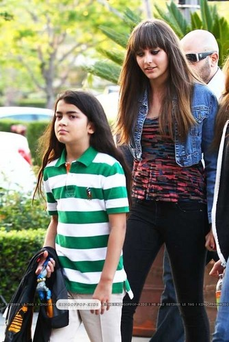 Blanket Jackson with his Sister in Calabasas