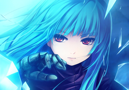 Blue জীবন্ত Girl