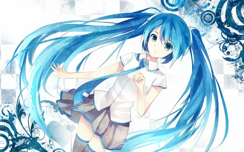 Blue Аниме Girl