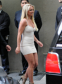 Britney - Upfront renard (Arrive & Backstage) - May 14, 2012