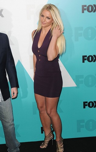 Britney Spears wallpaper possibly containing bare legs, tights, and hot pants titled Britney - X Factor Fox Upfront afterparty at Wollman Rink in Central Park - May 14, 2012