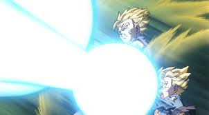 Dragon Ball Z wallpaper possibly with anime entitled Bros Kamehameha