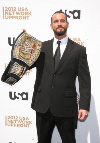 CM Punk at USA Network Upfronts