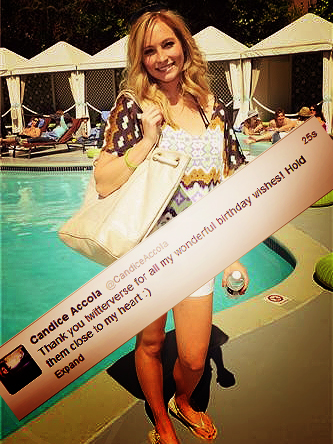 Candice thanks peminat-peminat for her Birthday wishes!