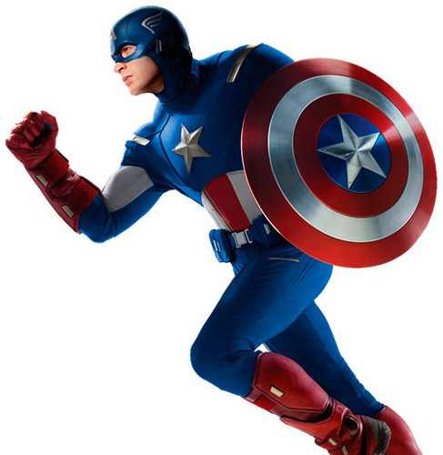 The Avengers Hintergrund titled Captain America