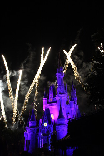 Cinderella Castle at night, with Fireworks!