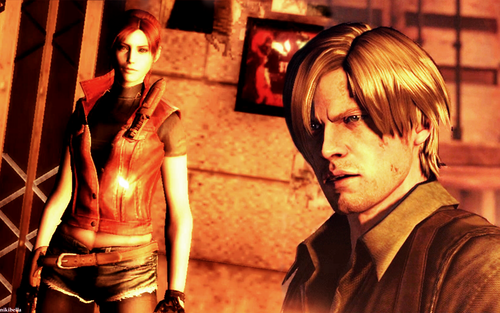 Resident Evil Hintergrund called Claire & Leon