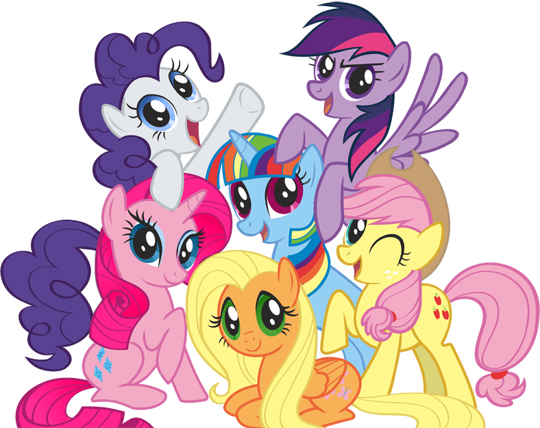 My Little Pony Friendship is Magic Color Swap Mane 6!!