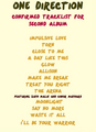 Confirmed Tracklist on their 秒 album!