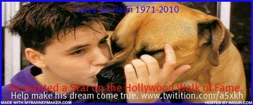 Corey Haim wallpaper possibly containing a rhodesian ridgeback entitled Corey