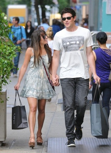 Cory & Lea Shopping in Soho - May 16,2012 - cory-monteith Photo