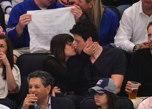 Cory & Lea at The Rangers Game - May 16, 2012 - cory-monteith Photo