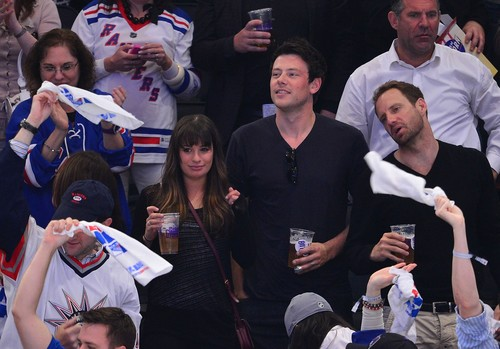 Cory & Lea at The Rangers Game - May 16, 2012