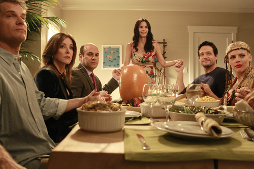 Christa Miller wallpaper with a dinner table titled Cougar town