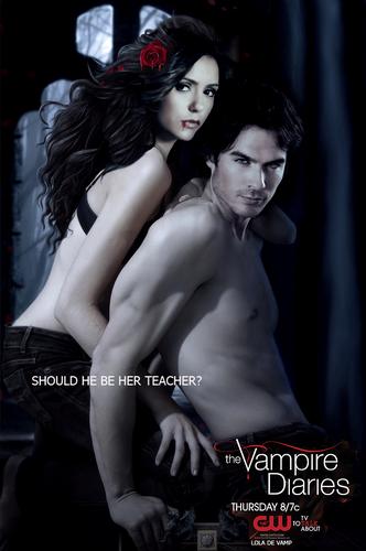 Damon Elena season 4 poster