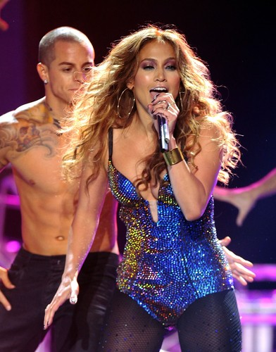 Jennifer Lopez wallpaper probably containing a maillot and a leotard entitled Dance Again Live On American Idol [10 May 2012]