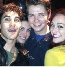 Darren at Glee bungkus, balut party