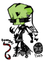 Defective Zade - invader-zim-fancharacters fan art