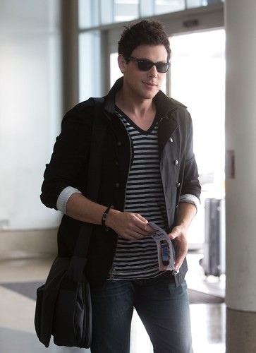 Cory Monteith wallpaper containing a well dressed person titled Departing LAX - May 12, 2012