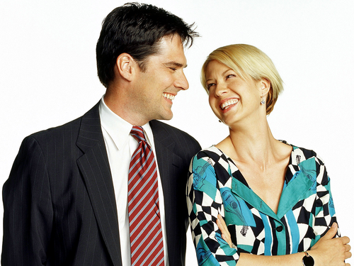 Dharma & Greg wallpaper possibly containing a business suit called Dharma & Greg