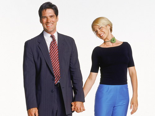 Dharma & Greg wallpaper containing a business suit, a suit, and a three piece suit called Dharma & Greg