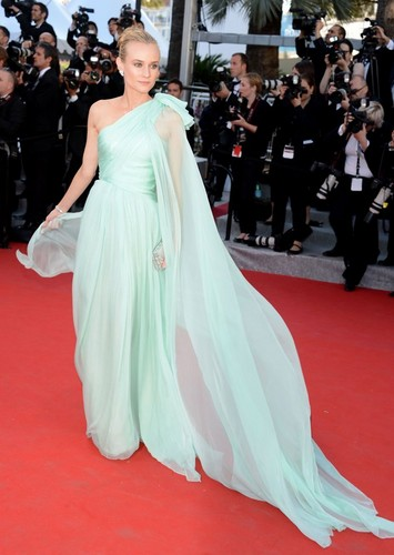 Diane Kruger wallpaper with a gown entitled Diane Kruger at the Palais des Festivals in Cannes